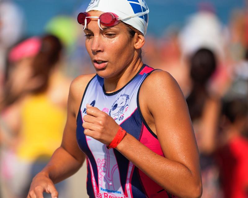 female triathlete