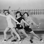 vintage women exercise trend