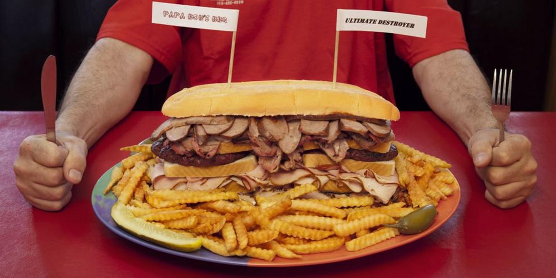 monster plate of food